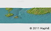 "Satellite Panoramic Map of the area around 46°51'18""N,56°1'29""W"