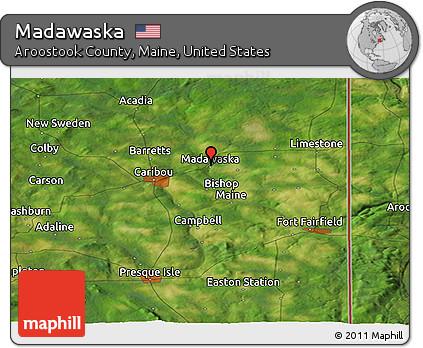 Free Satellite Panoramic Map Of Madawaska