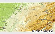 """Physical 3D Map of the area around 46°51'18""""N,6°1'30""""E"""