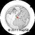 Outline Map of Pontarlier, rectangular outline