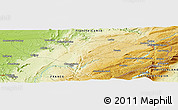 Physical Panoramic Map of Amancey