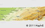 Physical Panoramic Map of La Praz