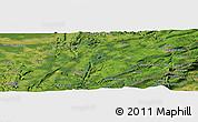 Satellite Panoramic Map of Amancey