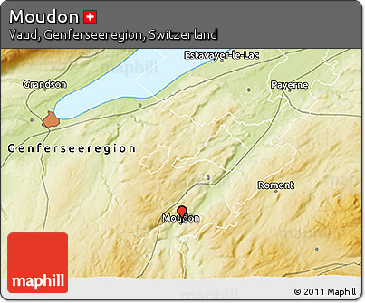Physical 3D Map of Moudon