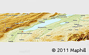 Physical Panoramic Map of Provence