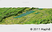 Satellite Panoramic Map of La Sarraz