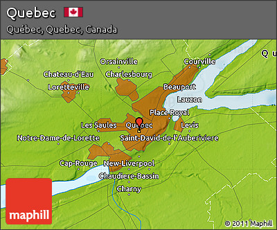 Free Physical Map Of Quebec - Quebec state physical map