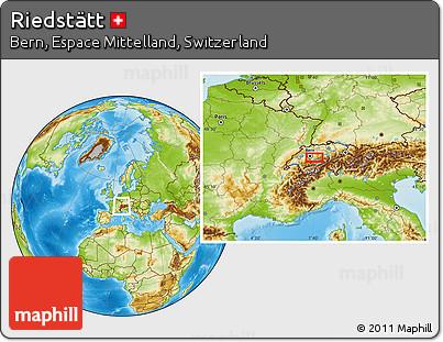 Physical Location Map of Riedstätt