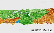 Political Panoramic Map of Kriens