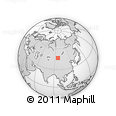 Outline Map of Buyanbat, rectangular outline