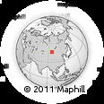Outline Map of Tegshin Bayantayn Hüryee, rectangular outline