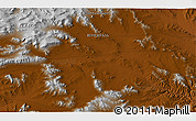 """Physical 3D Map of the area around 46°51'18""""N,98°40'30""""E"""