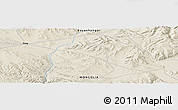 "Shaded Relief Panoramic Map of the area around 46° 51' 18"" N, 99° 31' 30"" E"