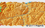 Political 3D Map of Chur