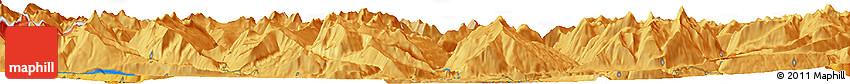 Political Horizon Map of Chur
