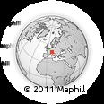 Outline Map of Chur, rectangular outline