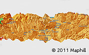 Political Panoramic Map of Chur