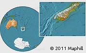 "Satellite Location Map of the area around 46°9'26""S,169°13'29""E"