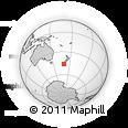 "Outline Map of the Area around 46° 9' 26"" S, 169° 13' 29"" E, rectangular outline"