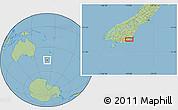 "Savanna Style Location Map of the area around 46°9'26""S,170°4'29""E"