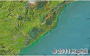 "Satellite Map of the area around 46°9'26""S,170°4'29""E"