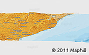 """Political Panoramic Map of the area around 46°9'26""""S,170°4'29""""E"""
