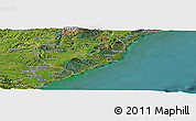 "Satellite Panoramic Map of the area around 46°9'26""S,170°4'29""E"