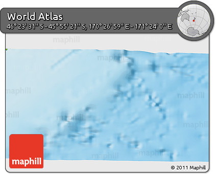 """Physical 3D Map of the Area around 46°9'26""""S,170°55'30""""E"""