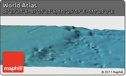 "Satellite Panoramic Map of the Area around 46°9'26""S,170°55'30""E"