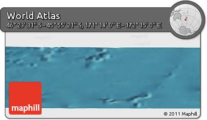 "Satellite Panoramic Map of the Area around 46°9'26""S,171°46'30""E"