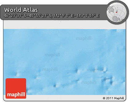 """Physical 3D Map of the Area around 46°9'26""""S,172°37'30""""E"""