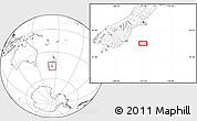 """Blank Location Map of the area around 46°9'26""""S,172°37'30""""E"""