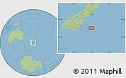 "Savanna Style Location Map of the area around 46°9'26""S,172°37'30""E"