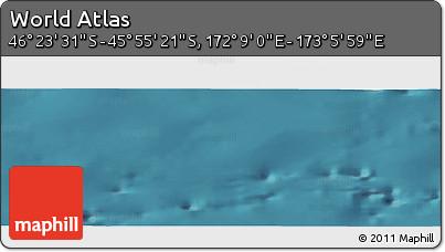 "Satellite Panoramic Map of the Area around 46°9'26""S,172°37'30""E"