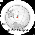 "Outline Map of the Area around 46° 9' 26"" S, 173° 28' 29"" E, rectangular outline"