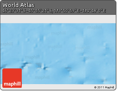 """Physical 3D Map of the Area around 46°9'26""""S,174°19'29""""E"""