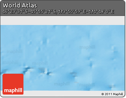 """Shaded Relief 3D Map of the Area around 46°9'26""""S,174°19'29""""E"""