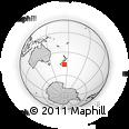 "Outline Map of the Area around 46° 9' 26"" S, 174° 19' 29"" E, rectangular outline"