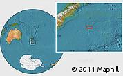 "Satellite Location Map of the area around 46°9'26""S,176°1'30""E"