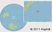 "Savanna Style Location Map of the area around 46°9'26""S,176°1'30""E"
