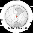 Outline Map of Aysén, rectangular outline