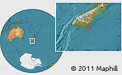 "Satellite Location Map of the area around 46°34'35""S,170°4'29""E"