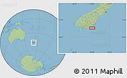 "Savanna Style Location Map of the area around 46°34'35""S,170°4'29""E"
