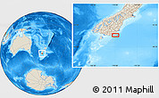 """Shaded Relief Location Map of the area around 46°34'35""""S,170°4'29""""E"""