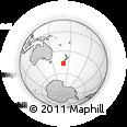 Outline Map of Kaka Point, rectangular outline