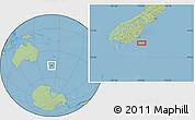 "Savanna Style Location Map of the area around 46°34'35""S,170°55'30""E"