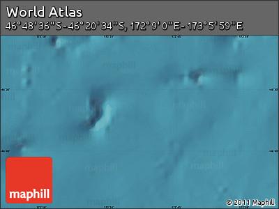 "Satellite Map of the Area around 46°34'35""S,172°37'30""E"
