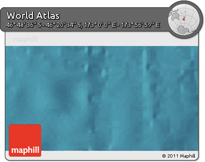 """Satellite 3D Map of the Area around 46°34'35""""S,173°28'29""""E"""