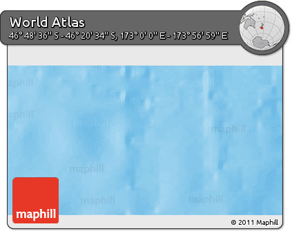 """Shaded Relief 3D Map of the Area around 46°34'35""""S,173°28'29""""E"""