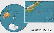 "Satellite Location Map of the area around 46°34'35""S,173°28'29""E"